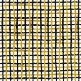 抽象黑色和金条纹背景 库存图片