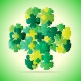 抽象绿色四叶子 免版税图库摄影