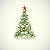 抽象绿色圣诞树传染媒介 库存照片