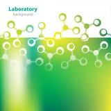 抽象绿色实验室背景。 免版税库存照片