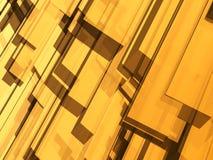 抽象黄色对象 皇族释放例证