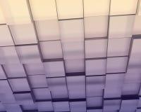 抽象紫色微妙的色的块 免版税图库摄影
