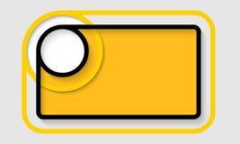 抽象黄色文本框架 库存例证