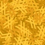 抽象黄色无缝的样式 向量背景 免版税库存照片
