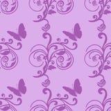 抽象紫色无缝的样式 免版税图库摄影