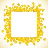 抽象黄色星背景 也corel凹道例证向量 皇族释放例证