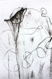 抽象黑色构成白色 免版税库存图片