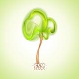 抽象绿色树 免版税库存图片