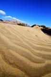 抽象黄色沙丘海滩hil和山西班牙 库存照片