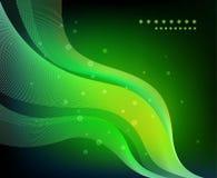 抽象绿色波浪 免版税库存图片