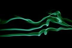 抽象绿色波浪 库存图片