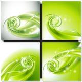 抽象绿色漩涡背景 免版税库存图片