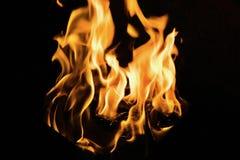 抽象黄色火火焰 免版税库存图片
