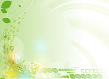 抽象绿色点六角形生态技术背景 免版税库存图片