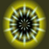 抽象绿色背景照明设备火光 免版税库存图片
