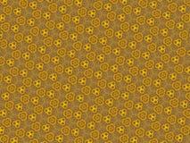 抽象黄色花卉万花筒背景 库存照片
