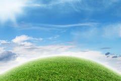 抽象绿色行星 免版税库存图片