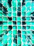 抽象绿色马赛克维度徒升 免版税库存照片