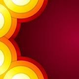 抽象黄色,橙色和红色送报形状 免版税库存图片