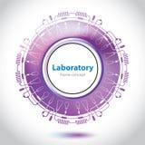 抽象紫色医学实验室元素。 皇族释放例证