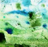抽象绿色水彩 免版税图库摄影