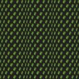 抽象绿色黑无缝的样式 造成幻觉 在黑背景的绿色 免版税库存图片