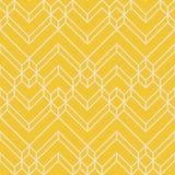 抽象黄色&米黄雪佛几何样式 免版税图库摄影
