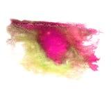 抽象紫色绿色冲程墨水水彩刷子水彩sp 免版税库存照片