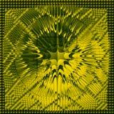 抽象绿色黄色背景 向量例证