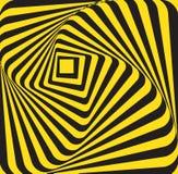 抽象黄色黑长方形 免版税库存图片