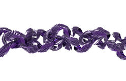 抽象紫色3D形状 免版税库存照片