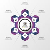 抽象紫色infographic圈子 设计现代模板 也corel凹道例证向量 库存照片