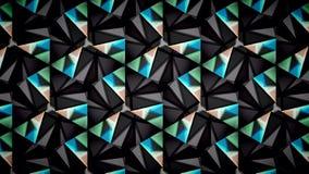 抽象黑蓝绿色和白色上色样式墙纸 图库摄影