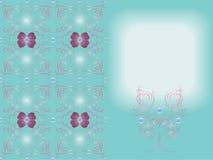 抽象蝴蝶、磁带和小珠在样式和装饰元素 免版税图库摄影