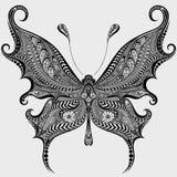 抽象蝴蝶图案 免版税库存照片