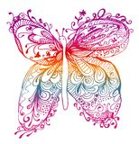 抽象蝴蝶图画 免版税库存图片