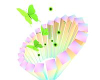 抽象蝴蝶海报 库存照片