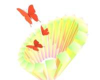 抽象蝴蝶海报 图库摄影