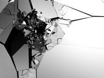 抽象破裂的墙壁 爆破破坏表面背景 库存图片