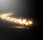 抽象从霓虹迷离的传染媒介发光的不可思议的星光线影响弯曲 库存例证