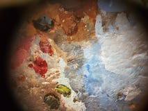 抽象 artsiest 调色板 油 免版税图库摄影