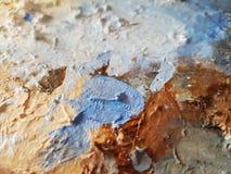 抽象 artsiest 调色板 油 库存照片