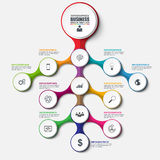 抽象3D企业树Infographic 能为工作流布局使用 皇族释放例证