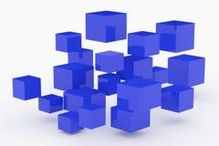 抽象3D光滑的立方体背景 库存例证