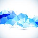 抽象3D几何背景 免版税库存照片