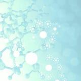 抽象3d分子医疗背景 向量例证