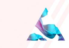 抽象3D回报例证 飞行的丝织物波浪,挥动 皇族释放例证