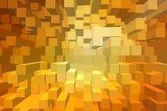 抽象3D块背景 皇族释放例证