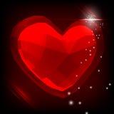 抽象3d多角形心脏 库存图片