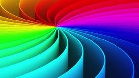 抽象3D彩虹螺旋背景 库存例证